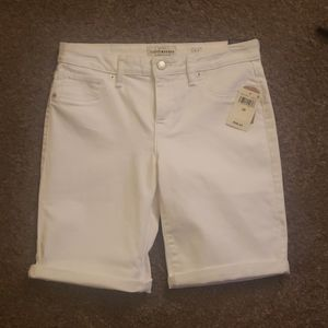 Lucky Brand white Bermuda shorts